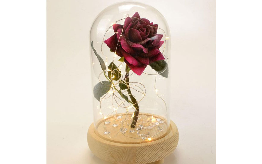 beauty and the beast wedding centrepiece