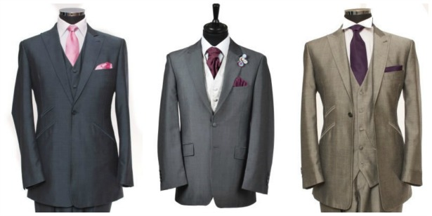 Lounge suits for the groom by Hugh Harris | Confetti.co.uk