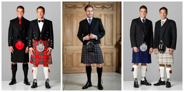 Traditional Scottish kilts for the groom by Slaters | Confetti.co.uk