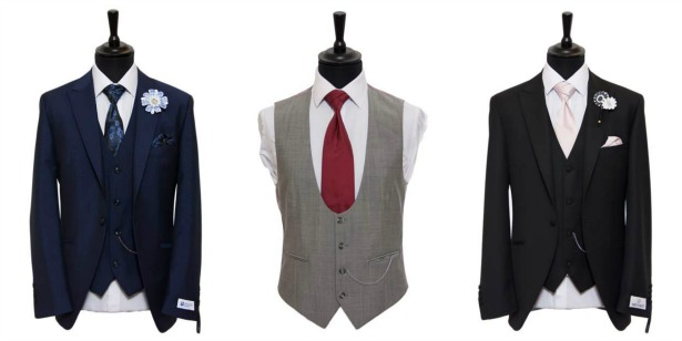 Waistcoats for the groom by Hugh Harris | Confetti.co.uk