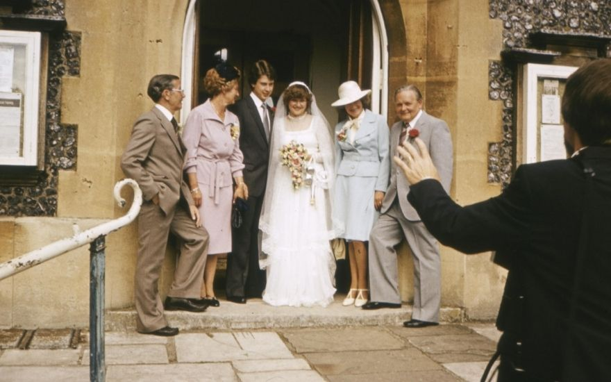 Wedding photo from 1970s