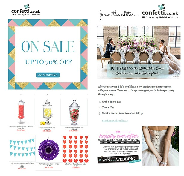 Confetti.co.uk's guide to being a bride | Shop and editor newsletters from Confetti.co.uk