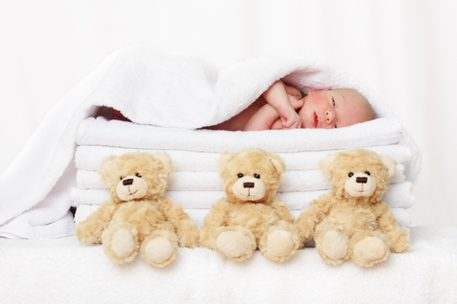 Baby and Teddy bears