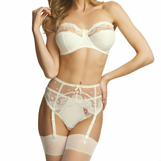 White lingerie by the Bra Closet