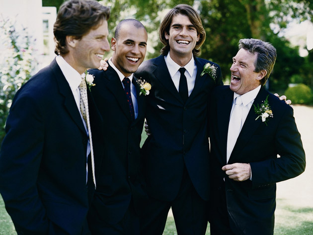 Groom, Bestman, Usher and Father