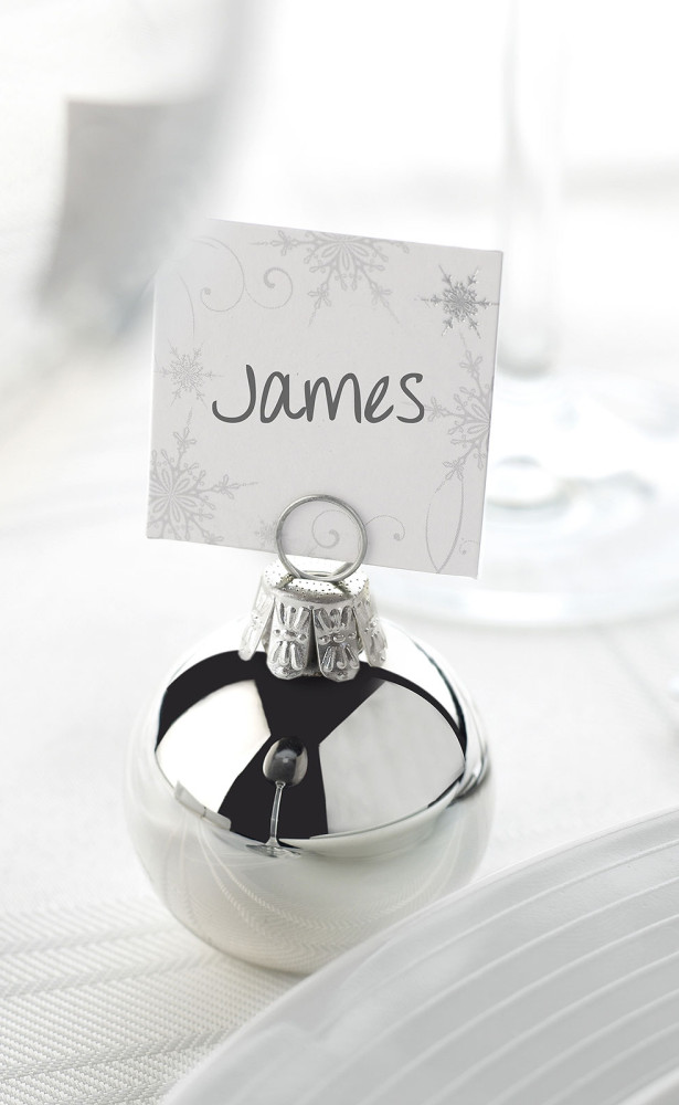 wedding card name tag holder winter