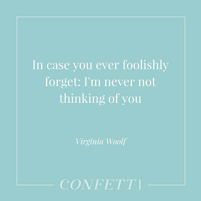 Love quote from Virginia Woolf