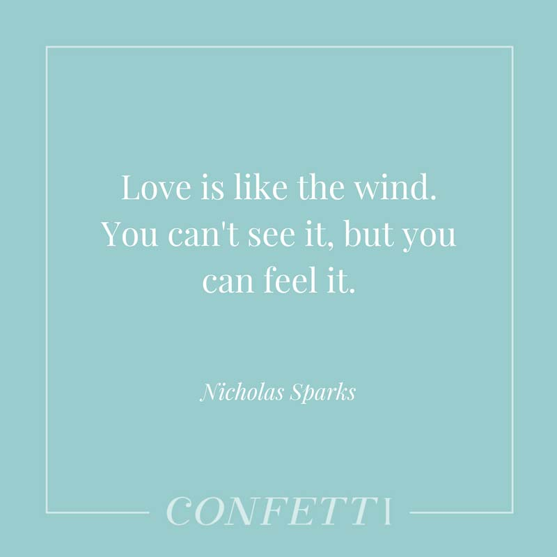 Quote from Nicholas Sparks about love