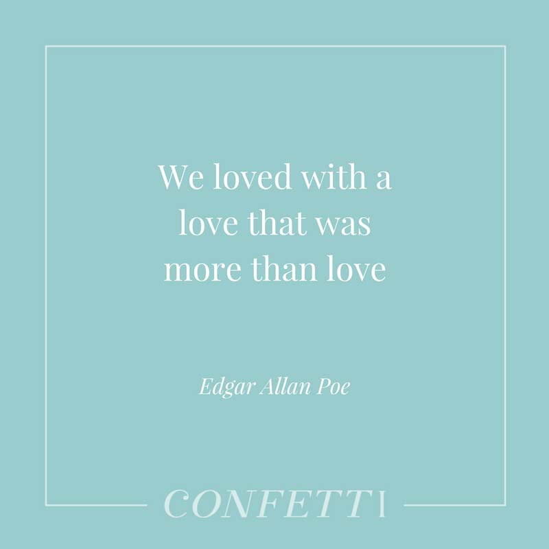 Edgar Allan Poe quote about love