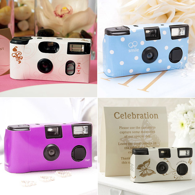 Disposable cameras in a range of colours and styles at Confetti