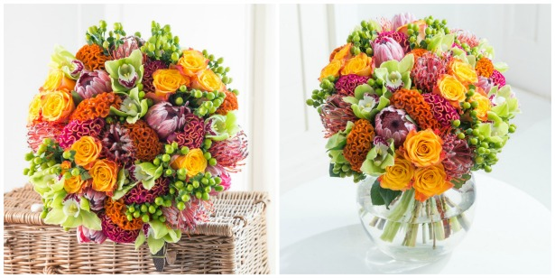 Flowers in rustic flame by Drake Algar Florists   Confetti.co.uk