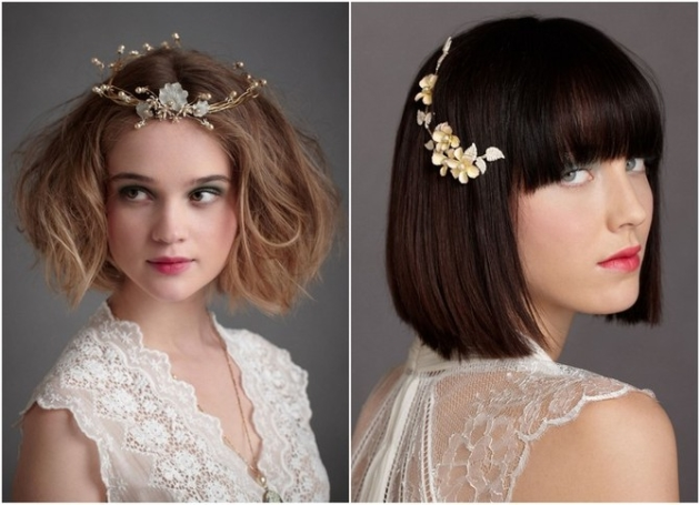 Short Bridal Hair Styles and Accessories