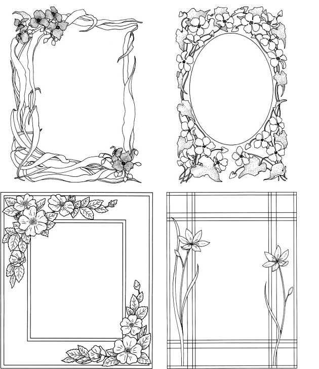 Wedding DIY Photo Frames to Colour