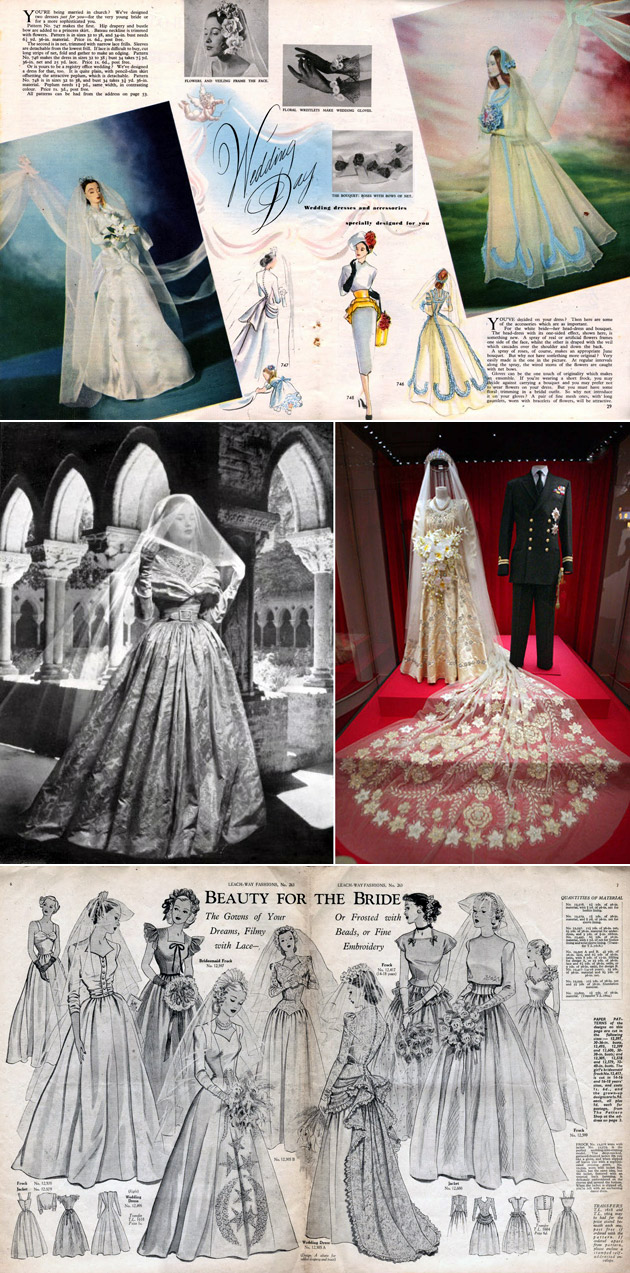 1940s Bridal Gowns & Veils