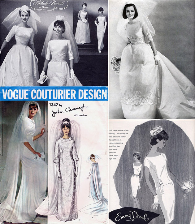 1960s Bridal Gowns & Veils