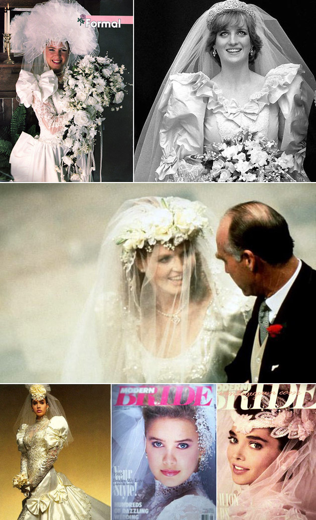 Bridal Gowns & Veils from the 1980s