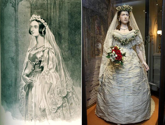 Queen Victoria's Wedding Gown & Veil