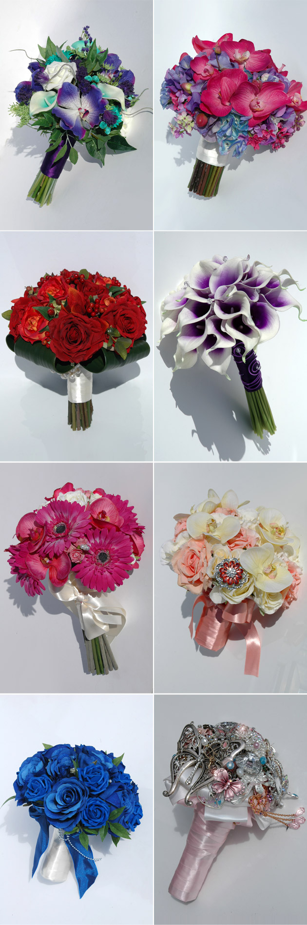 Silk Blooms Artificial Wedding Flower Bouquets
