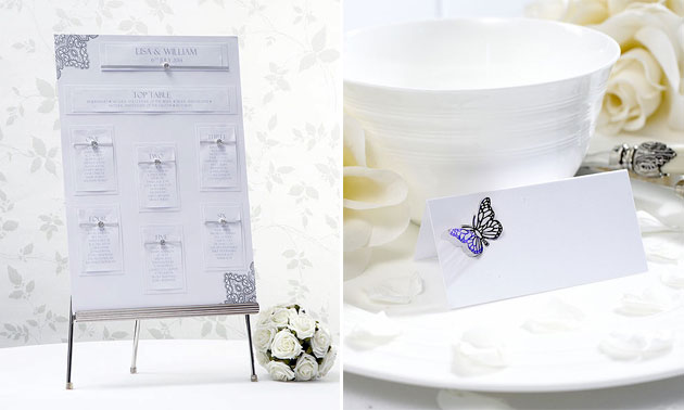Table planning accessories at the Confetti shop