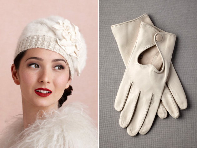 Hat & Gloves by BHLDN