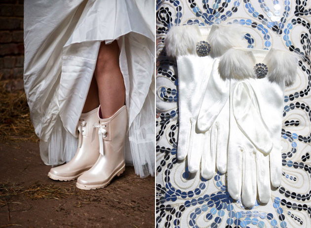 Weddington Wellies & Gloves by Etsy