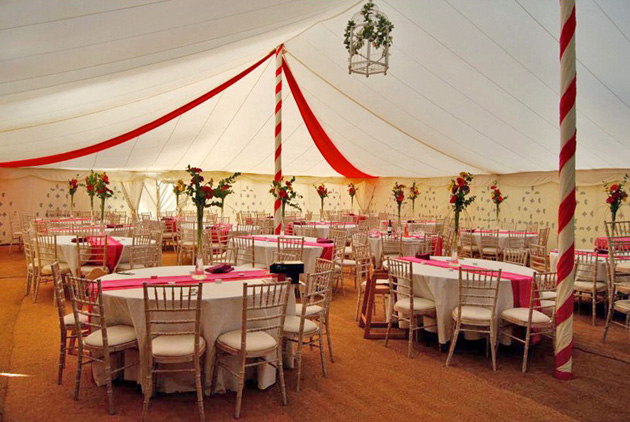Fabric marquee decor by Complete Chillout Company