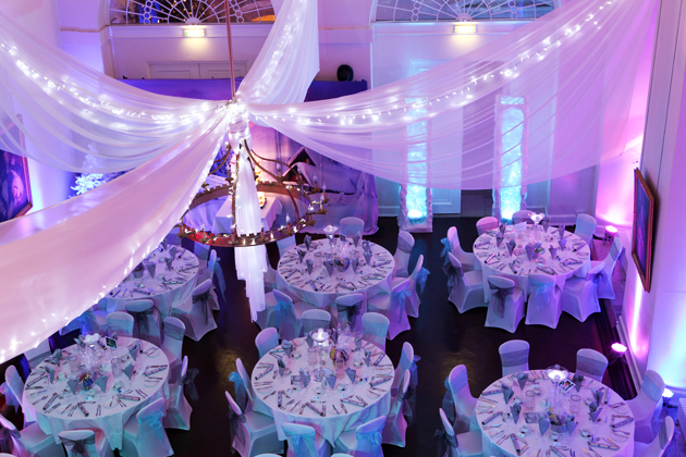White Voile Draping