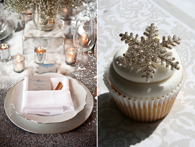 Winter Glitter Decor