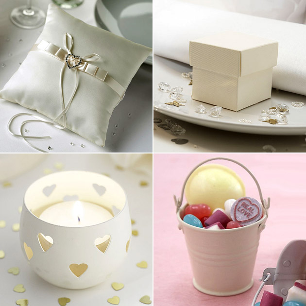Ivory Wedding Accessories Table Decor