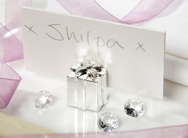 Silver Gift Place Card Holder