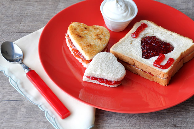 Valentine's Day Toast Breakfast