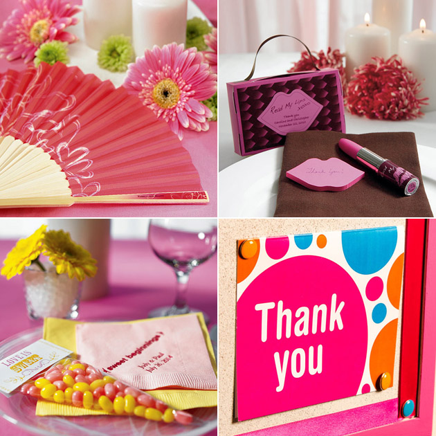 Pink Fan Lips Note Pad Stationery Favous Clear Cellophane Favour Bags