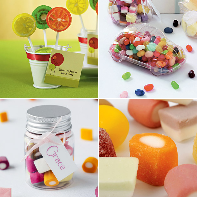 Bright Candy And Containers For Sweet Buffet And Favours