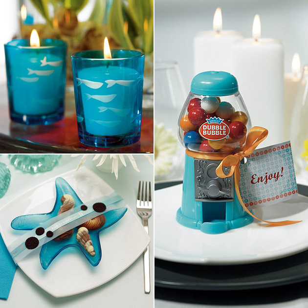 Blue Candle Holders Gumball Dispenser Favours Starfish Plates