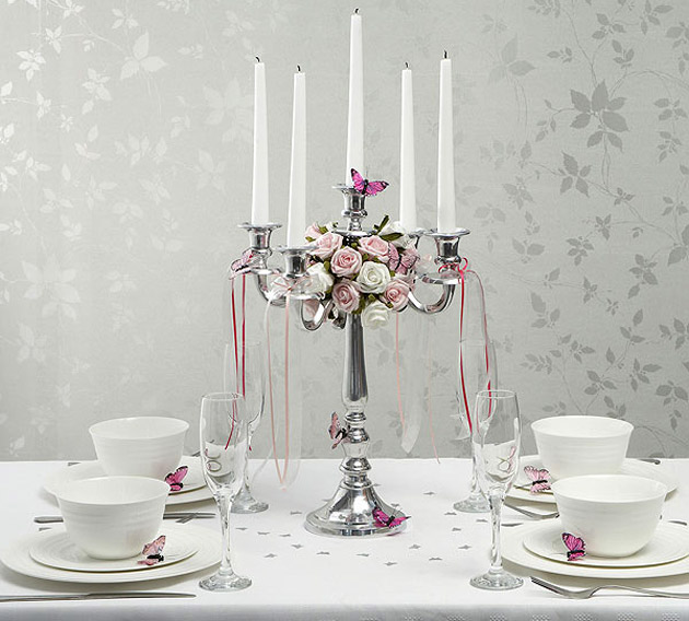 Wedding Reception Silver Candelabra