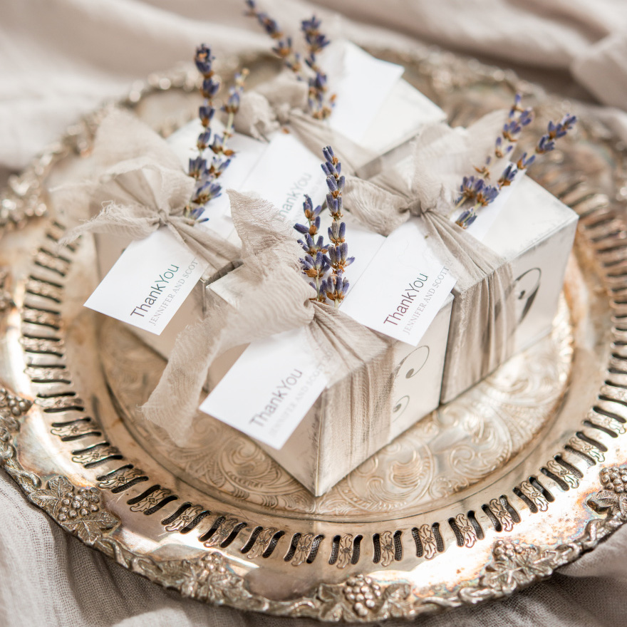 LOVE Favour Boxes - Beautiful Winter Wedding Theme - Vintage Winter Wedding - Glamorous Winter Wedding - Grey and Lavender Wedding Theme | Confetti.co.uk