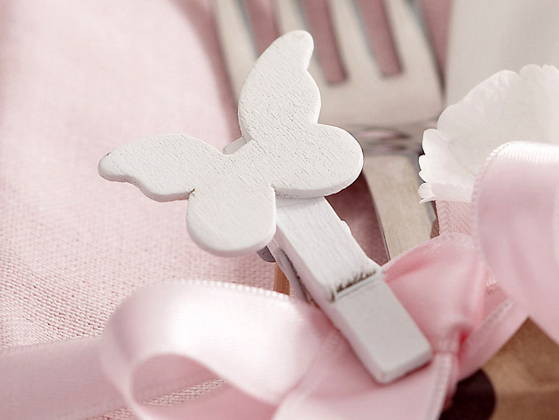 Small Wood Butterfly Pegs