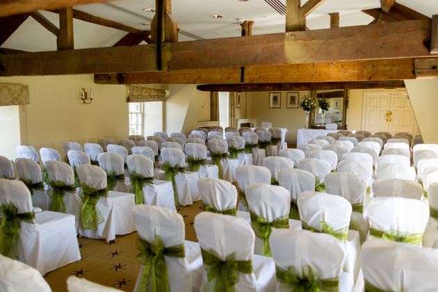 Wedding Ceremony Room Sage Green