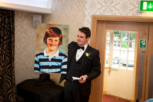 Best Man Shows Childhood Picture of the Groom