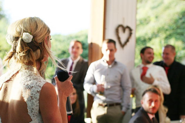 The bride making her wedding speech | Confetti.co.uk