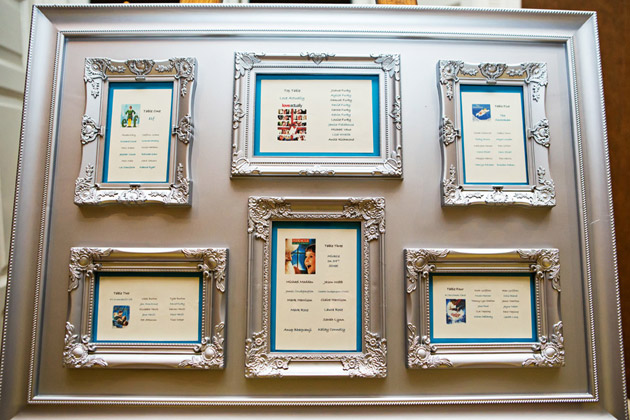 Reception Room Table Plan With Vintage Frames
