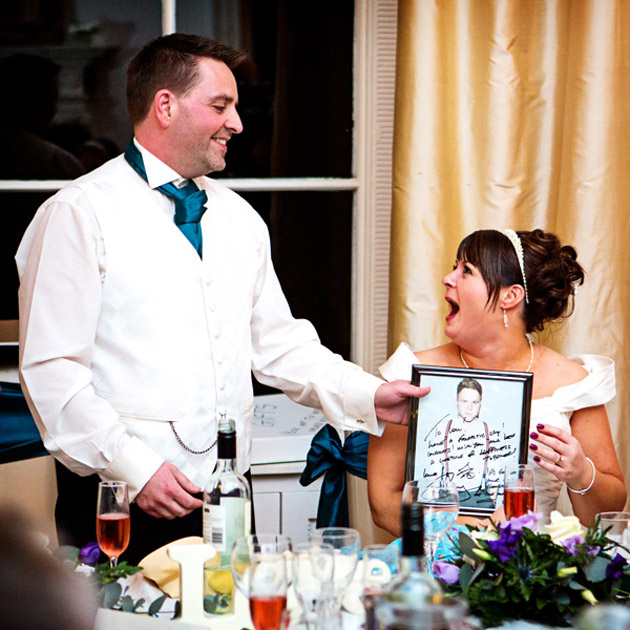 Bride's Very Own Olly Murs Personal Message