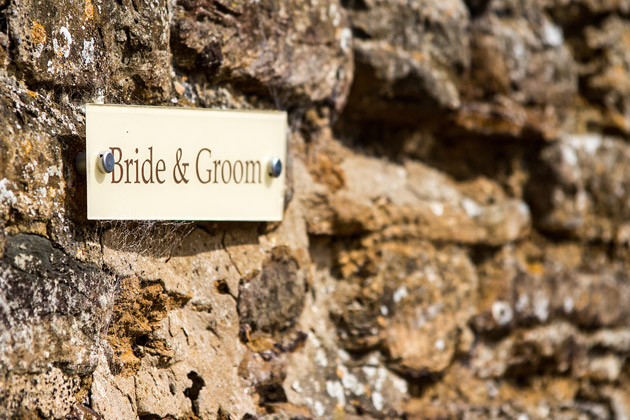 Bride and Groom Sign at Dodmoor House