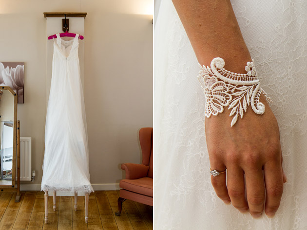 Bridal Gown & Lace Cuff
