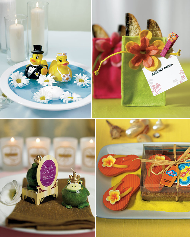 Quirky and Colourful Wedding Favours