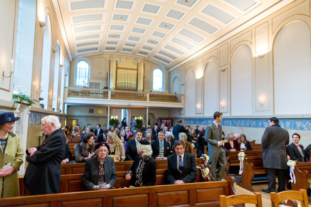 Guests Arriving at Church for Ceremony