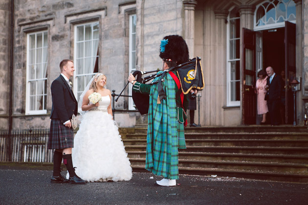 Bride and Groom with Piper