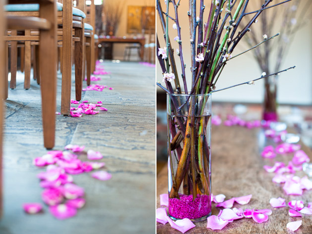 Pink Confetti Ceremony Decorations at Dodmoor House