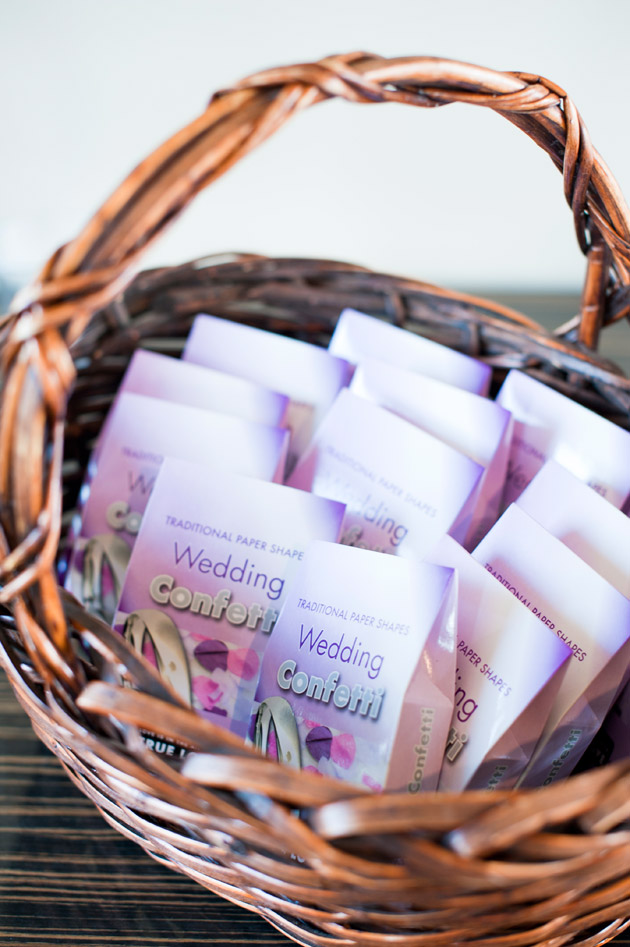 Wedding Confetti in Basket