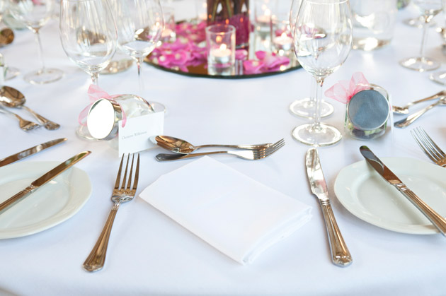 Wedding Reception at Dodmoor House Table Decor